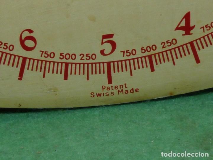 Antigüedades: Elegante báscula Lyssex antigua balanza swiss made 10 kilos años 50 solida decoracion industrial - Foto 7 - 122923639