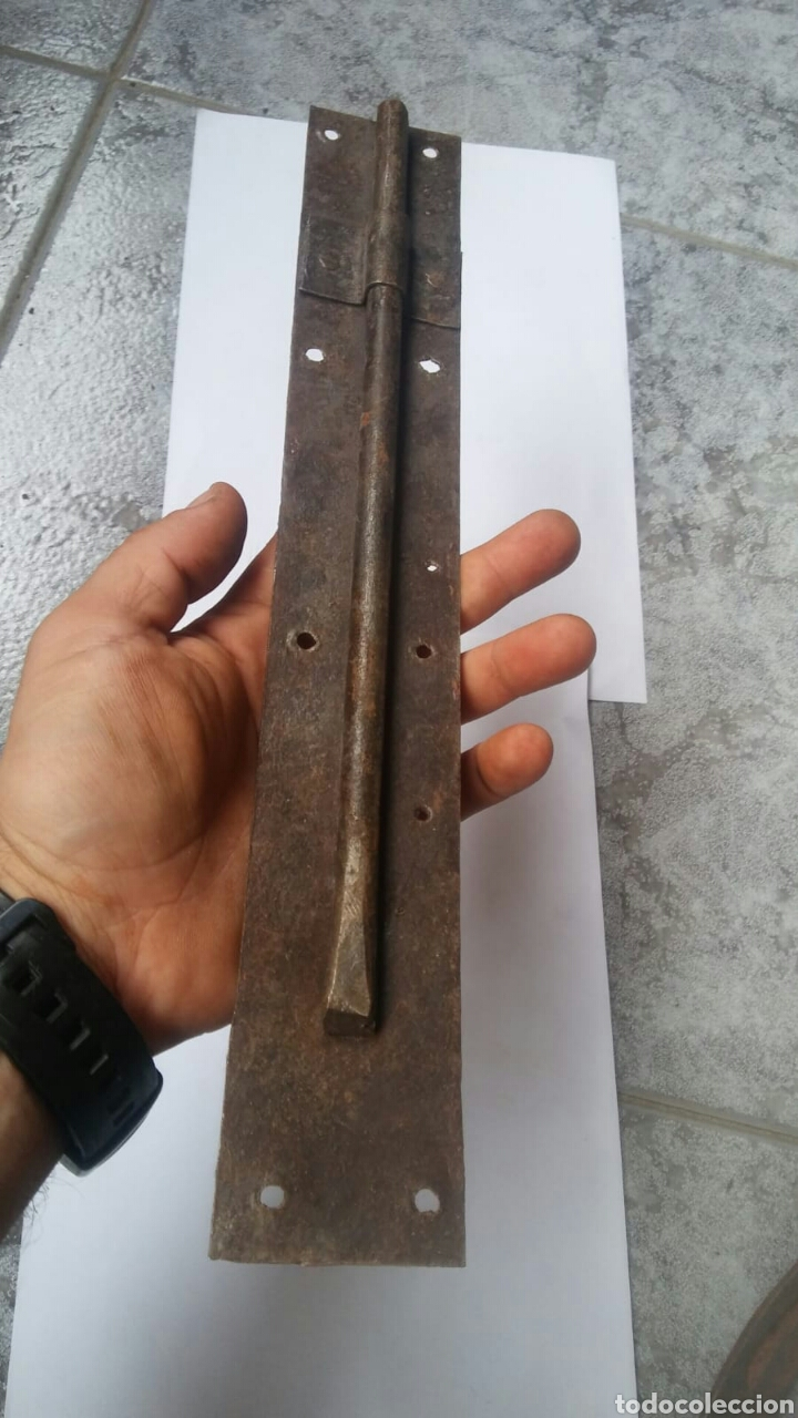 Antigüedades: GRAN PASADOR PESTILLO 38cm - Foto 3 - 123019655