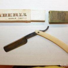 Antigüedades: NAVAJA DE AFEITAR IBERIA, DOBLE TEMPLE, NÚMERO 13, BASSAT S.A, SPAIN.. Lote 123031191