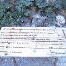 Antigüedades: LOTE 9 CADENAS DE FORJA ANTIGUAS. Lote 122689755
