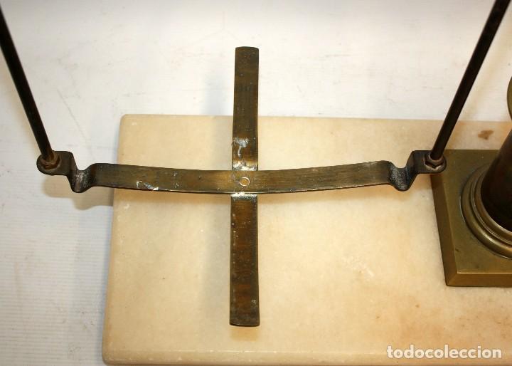 Antigüedades: IMPORTANTE BALANZA DE LA PRESTIGIOSA CASA MADRILEÑA LACAVE. PRINCIPIOS DEL SIGLO XX - Foto 9 - 123105631