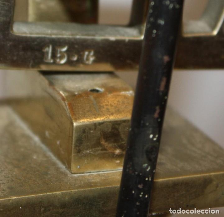 Antigüedades: IMPORTANTE BALANZA DE LA PRESTIGIOSA CASA MADRILEÑA LACAVE. PRINCIPIOS DEL SIGLO XX - Foto 11 - 123105631