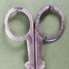 Antigüedades: TIJERAS DE COSTURA. PLEGABLES. METAL PLATEADO. SIGLO XIX-XX. . Lote 123117871