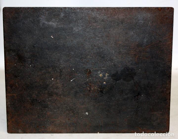 Antigüedades: ANTIGUA BASCULA O BALANZA INGLESA EN HIERRO DE LA MARCA SALTER (MODELO T.50) - Foto 7 - 123127139