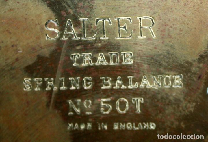 Antigüedades: ANTIGUA BASCULA O BALANZA INGLESA EN HIERRO DE LA MARCA SALTER (MODELO T.50) - Foto 10 - 123127139