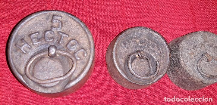 Antigüedades: JUEGO DE PESAS - Foto 2 - 123157315