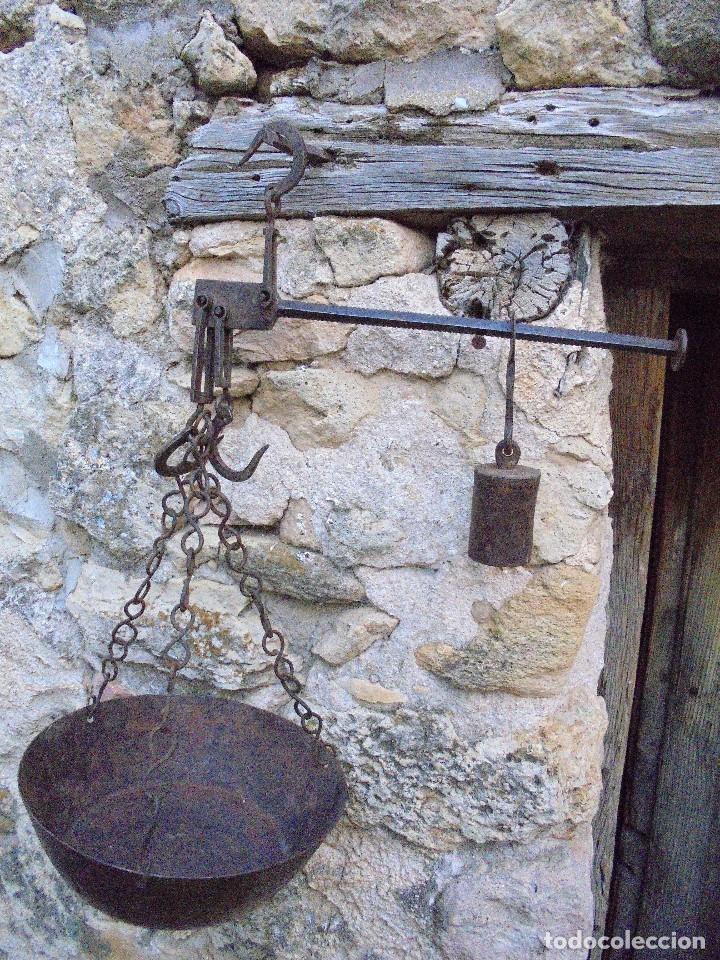 Antigüedades: ANTIGUA ROMANA DE FORJA ORIGINAL CON PLATO - S.XIX - Foto 2 - 123207951