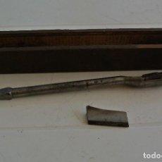 Antigüedades: ESTUCHE CON BROCA PARA LA MADERA ,RIDGWAY , ENGLAND. Lote 123279239