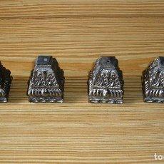 Antigüedades: LOTE DE 4 REMATES DE PATAS PARA CAMA O MUEBLE.. Lote 123284271