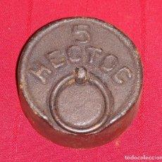 Antigüedades: PESA DE 5 HECTOC. Lote 123323527