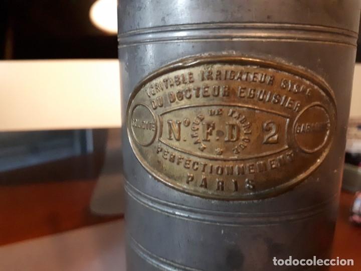 Antigüedades: Antiguo aparato médico. Irrigador Vaginal. Francia, SXIX. - Foto 3 - 115391731