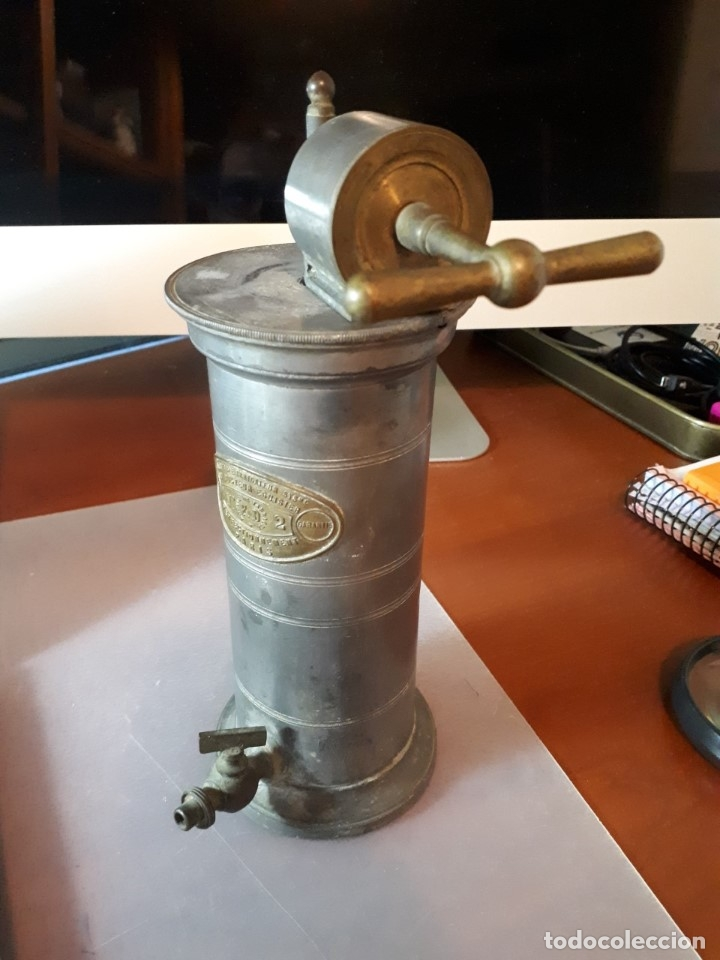 Antigüedades: Antiguo aparato médico. Irrigador Vaginal. Francia, SXIX. - Foto 2 - 115391731