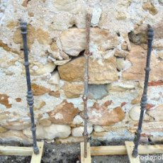Antigüedades: 3 BARROTES DE FORJA ANTIGUA - S.XIX. Lote 123526119