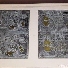Antigüedades: CHAPA, PLACA O MATRIZ DE IMPRENTA ORIGINAL DE JEAN LAPLACE, TAL CUAL SE VEN, 11,5X19,5 CM. APROX.. Lote 123534083