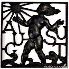 Antigüedades: PIEZA EN HIERRO ALEGÓRICA A AUGUST. Lote 123835719