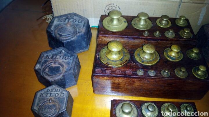 Antigüedades: (5)Juegos Completos de Pesas.ver Fotos - Foto 3 - 124138555