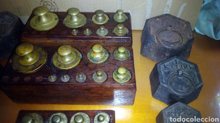 Antigüedades: (5)Juegos Completos de Pesas.ver Fotos - Foto 4 - 124138555