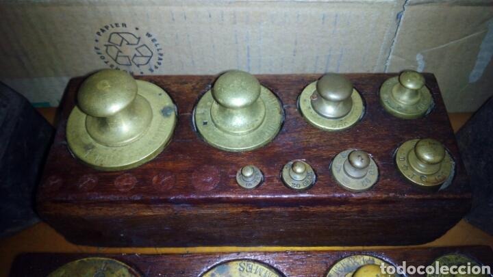 Antigüedades: (5)Juegos Completos de Pesas.ver Fotos - Foto 6 - 124138555