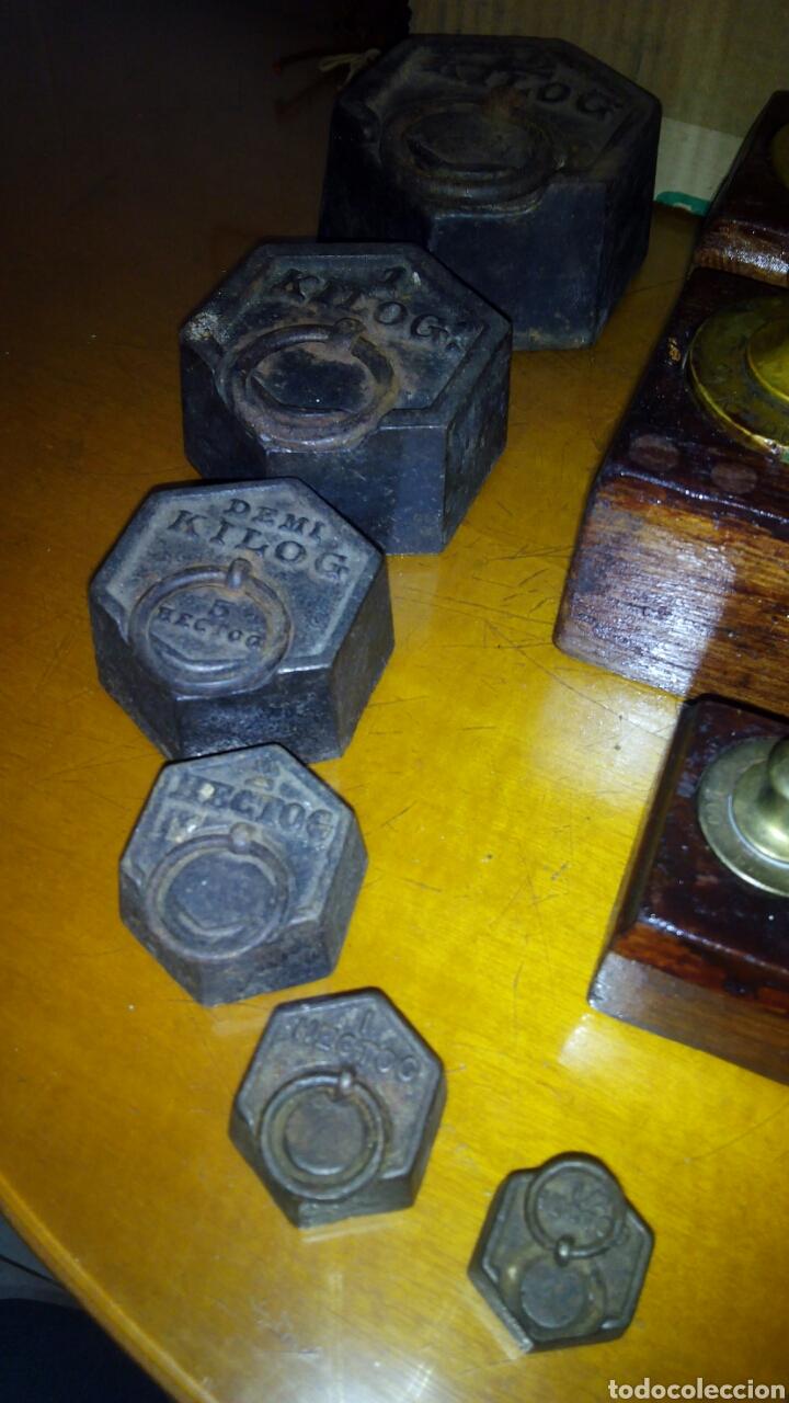 Antigüedades: (5)Juegos Completos de Pesas.ver Fotos - Foto 9 - 124138555
