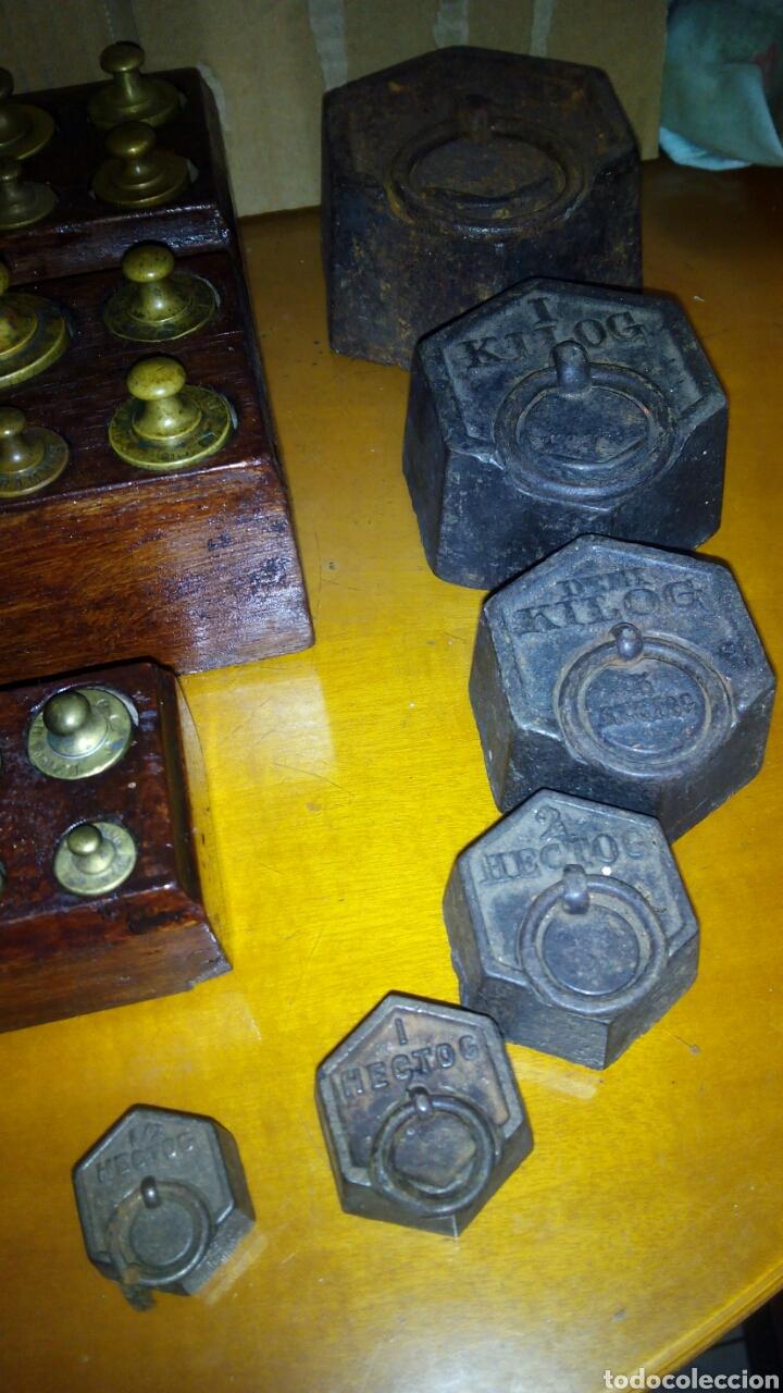 Antigüedades: (5)Juegos Completos de Pesas.ver Fotos - Foto 10 - 124138555