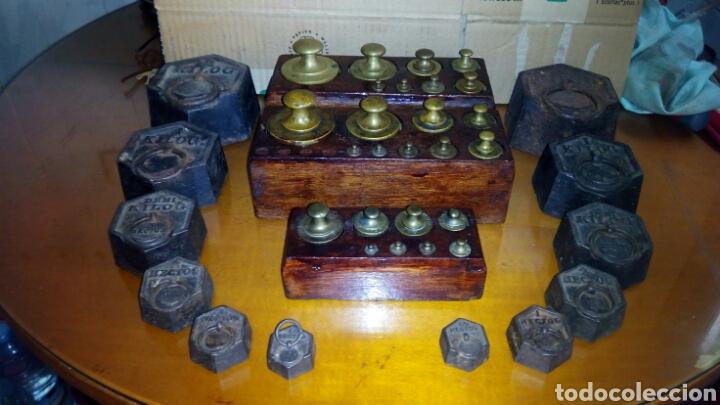 Antigüedades: (5)Juegos Completos de Pesas.ver Fotos - Foto 11 - 124138555