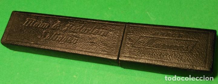 Antigüedades: Caja vacia (estuche) original para navaja de afeitar o barbero MANN & FEDERLEIN MANNOS Solingen, box - Foto 3 - 124154039