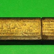 Antigüedades: CAJA VACIA O ESTUCHE ORIGINAL PARA NAVAJA DE AFEITAR O BARBERO LUNA SOLINGEN, BOX, STRAIGHT RAZOR. Lote 124154315