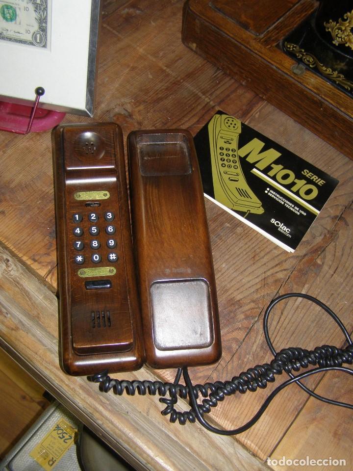 ANTIGUO TELÉFONO SOLAC M1010. EN MADERA. AÑOS 70S (Antigüedades - Técnicas - Teléfonos Antiguos)