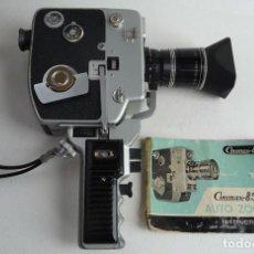 Antigüedades: CÁMARA FILMOGRÁFICA. CINEMAX 8 MM CÁMARA 85E. AÑO 1.928 ZOOM AUTOMÁTICO. Lote 124222475