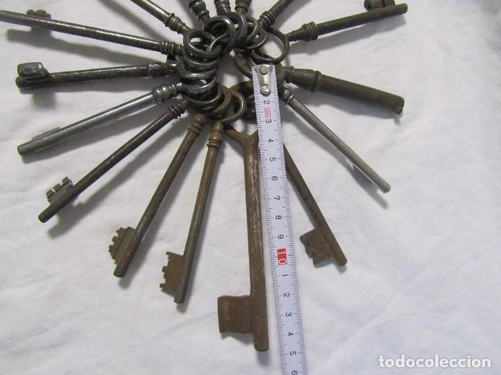 Antigüedades: 16 llaves antiguas 11 - 12 centímetros - Foto 5 - 124229711