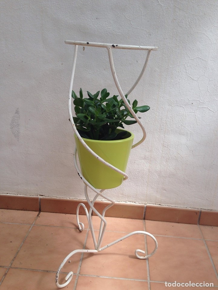 macetero jardinera alto hierro blanco ideal jar - Kaufen Objekte aus ...