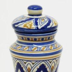 Antigüedades: ALBARELO DE BOTICA - ANTIMONIUM (ANTITUSIVO HOMEOPÁTICO) - TARRO DE FARMACIA - 15CM.. Lote 124408407