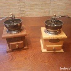 Antigüedades: 2 MOLINILLOS CAFÉ. Lote 124447691
