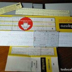 Antigüedades: REGLA DE CALCULO ARISTO STAHLBETON 940 HORMIGON ARMADO SYSTEM GÖTTSCH - SLIDE RULE RECHENSCHIEBER. Lote 124502071