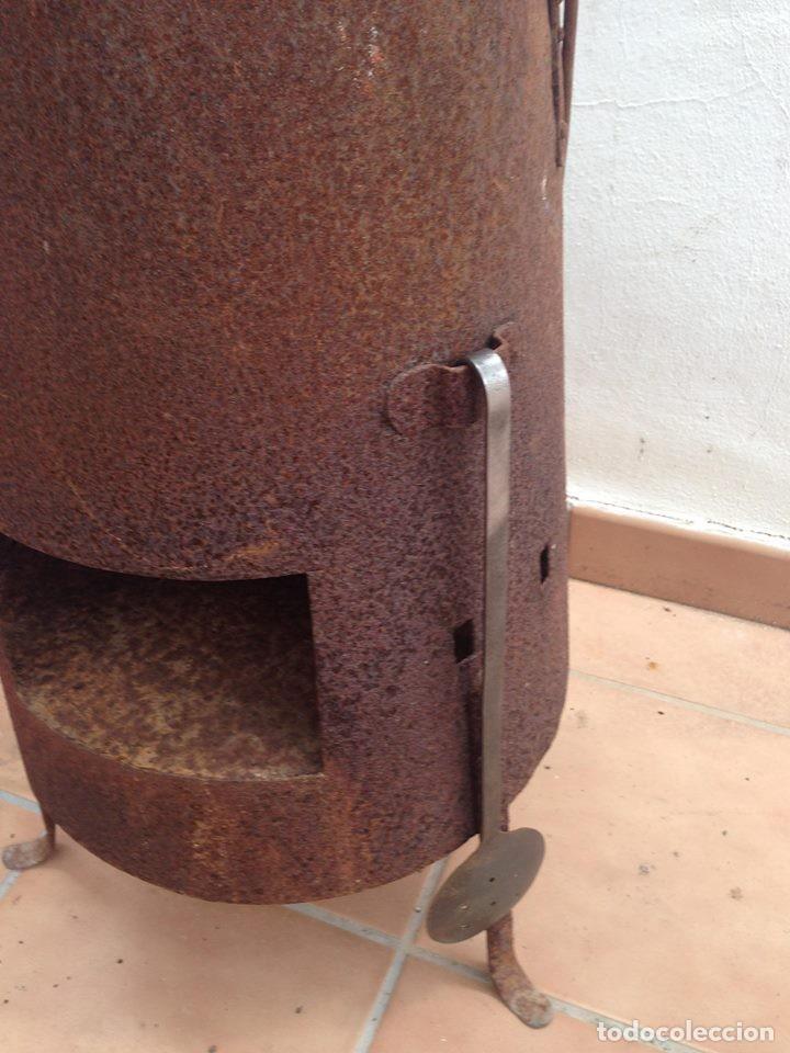 Antigüedades: antigua estufa hierro con calderin en cobre y bronce Baño de vapor, agua caliente s. XIX - Foto 4 - 124516979
