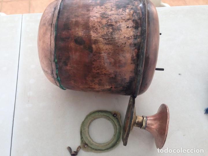 Antigüedades: antigua estufa hierro con calderin en cobre y bronce Baño de vapor, agua caliente s. XIX - Foto 8 - 124516979