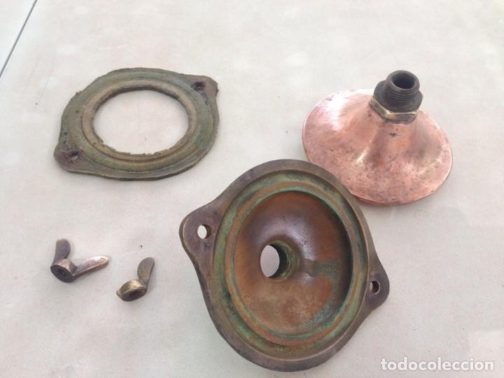 Antigüedades: antigua estufa hierro con calderin en cobre y bronce Baño de vapor, agua caliente s. XIX - Foto 12 - 124516979