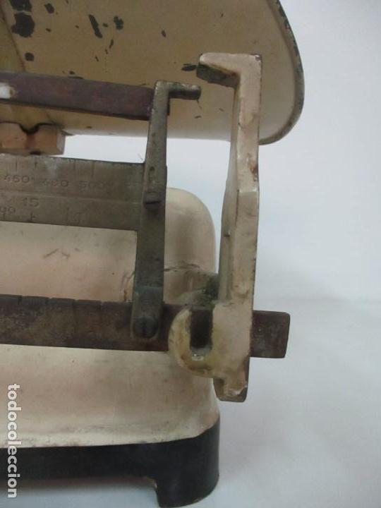 Antigüedades: Antigua Bascula para Bebes - Farmacia, Medico Pediatra - Metálica - Principios S. XX - Foto 5 - 142375440