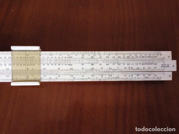 Antigüedades: ANTIGUA REGLA DE CALCULO UNIQUE LOG LOG SLIDE RULE MADE IN ENGLAND CALCULADORA KEISANJYAKU - Foto 9 - 124863483