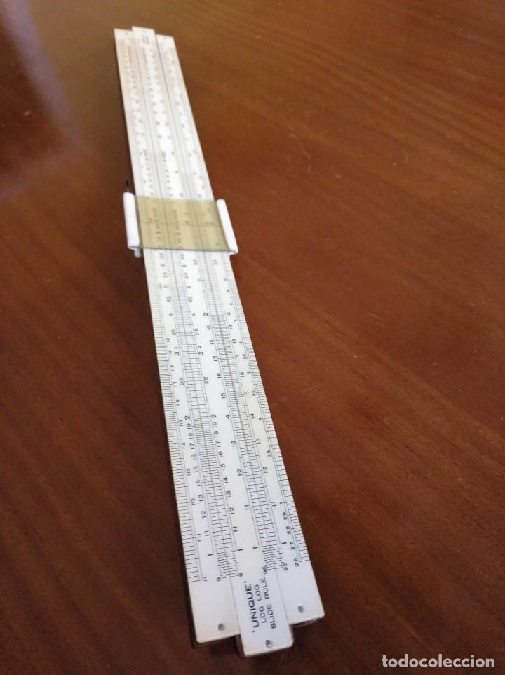 Antigüedades: ANTIGUA REGLA DE CALCULO UNIQUE LOG LOG SLIDE RULE MADE IN ENGLAND CALCULADORA KEISANJYAKU - Foto 18 - 124863483
