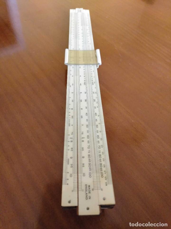 Antigüedades: ANTIGUA REGLA DE CALCULO UNIQUE LOG LOG SLIDE RULE MADE IN ENGLAND CALCULADORA KEISANJYAKU - Foto 20 - 124863483