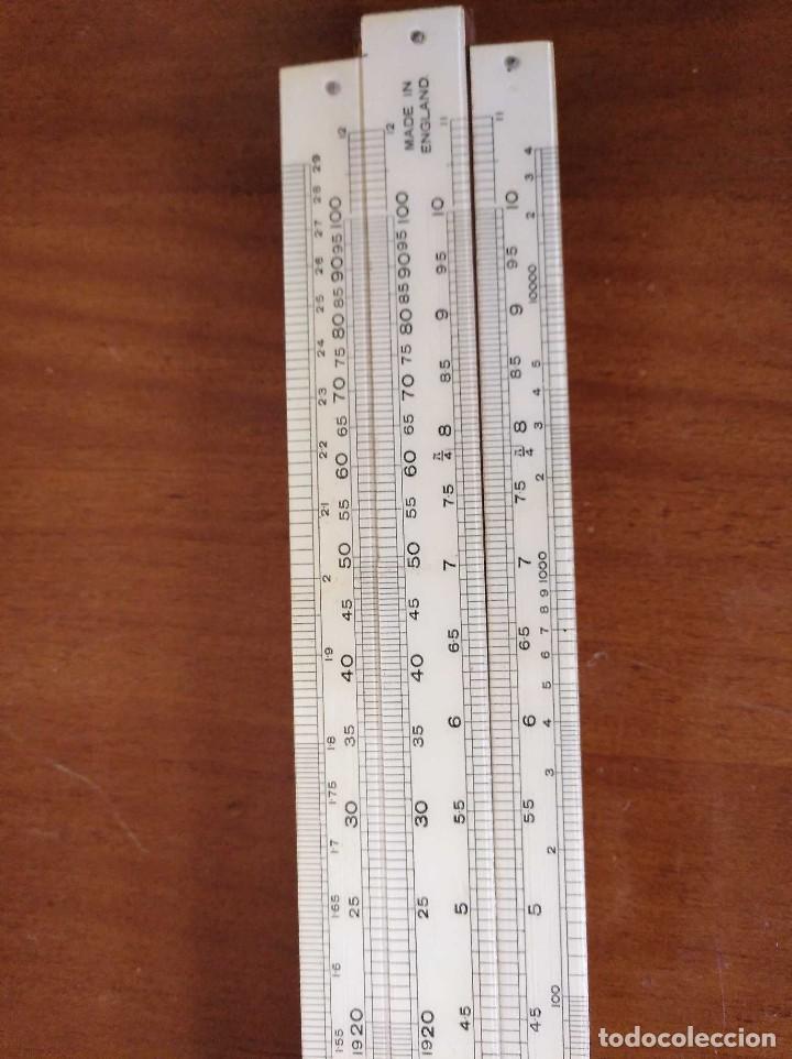 Antigüedades: ANTIGUA REGLA DE CALCULO UNIQUE LOG LOG SLIDE RULE MADE IN ENGLAND CALCULADORA KEISANJYAKU - Foto 25 - 124863483