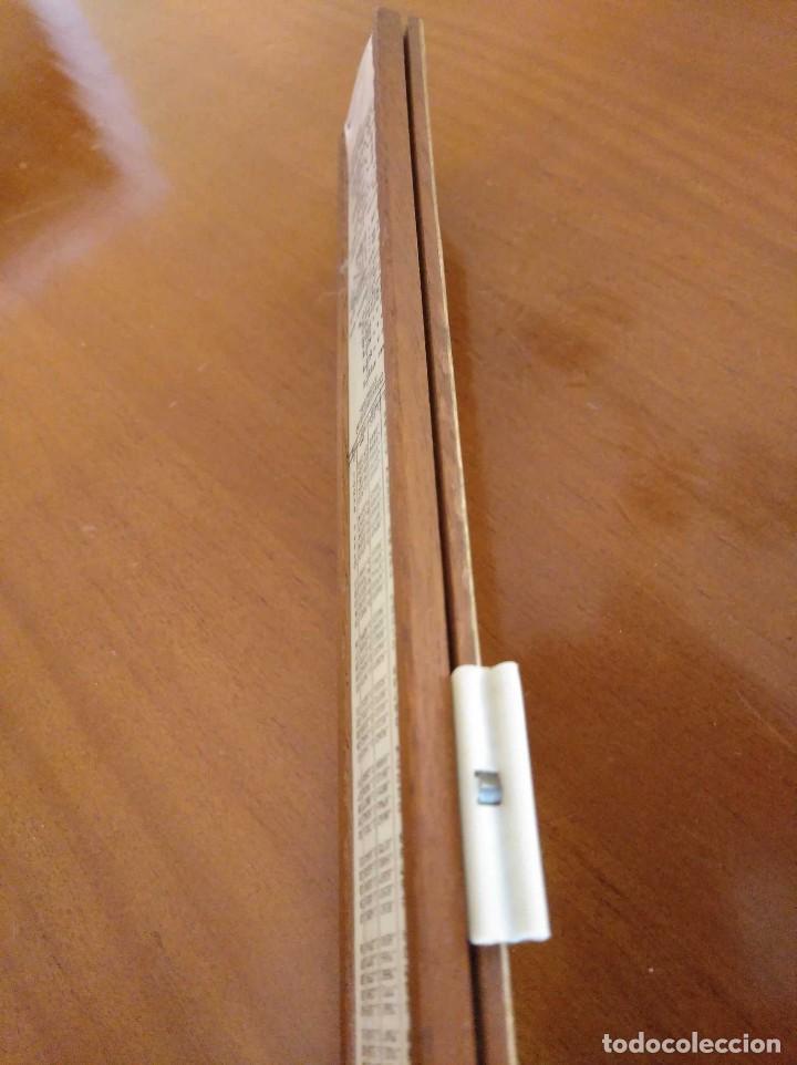 Antigüedades: ANTIGUA REGLA DE CALCULO UNIQUE LOG LOG SLIDE RULE MADE IN ENGLAND CALCULADORA KEISANJYAKU - Foto 32 - 124863483