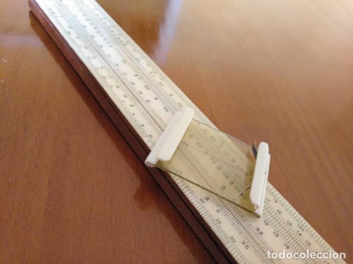 Antigüedades: ANTIGUA REGLA DE CALCULO UNIQUE LOG LOG SLIDE RULE MADE IN ENGLAND CALCULADORA KEISANJYAKU - Foto 36 - 124863483