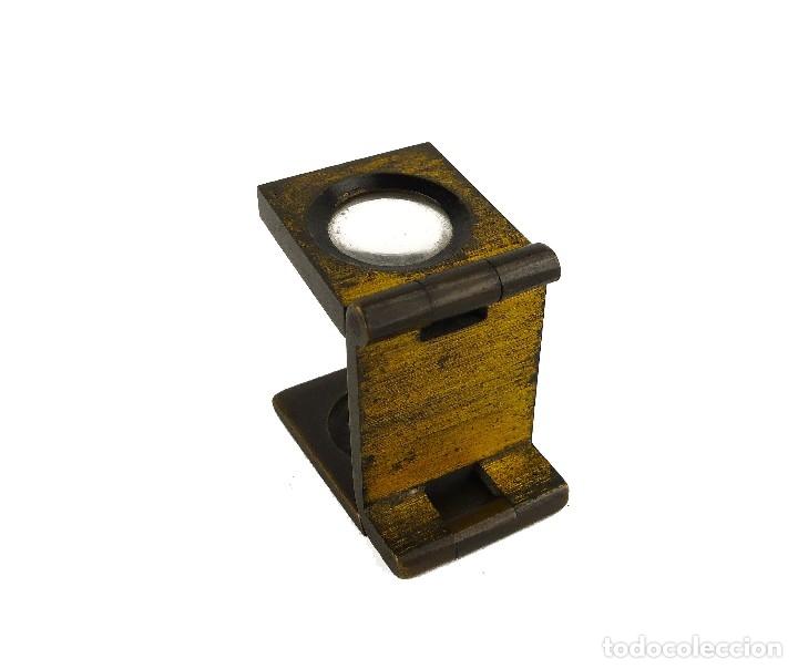 Antigüedades: Antiguo cuenta hilos lupa de bronce muy pequeño - principios S.XX - Foto 3 - 124927603