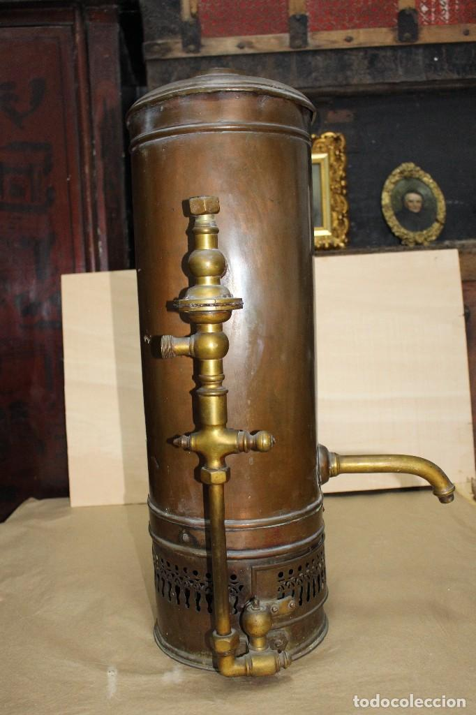 Antigüedades: Calentador de agua siglo XIX. - Foto 7 - 124969515