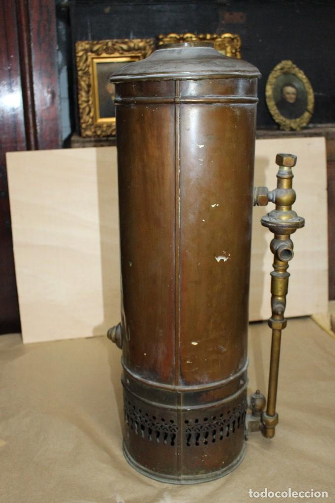Antigüedades: Calentador de agua siglo XIX. - Foto 9 - 124969515