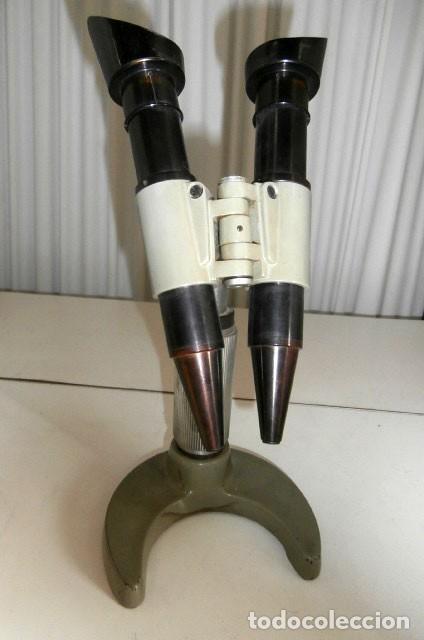 MICROSCOPIO ANTIGUO FRANCES O.P.L. PARA SOLDADURAS (Antigüedades - Técnicas - Instrumentos Ópticos - Microscopios Antiguos)