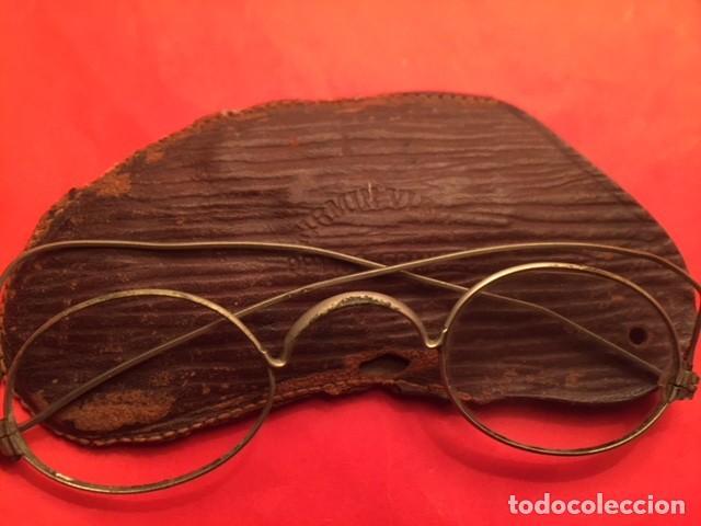 GAFAS ANTEOJOS QUEVEDO SIGLO XIX, OPTICO FRANCES FIRMIN VIBO (Antigüedades - Técnicas - Instrumentos Ópticos - Gafas Antiguas)