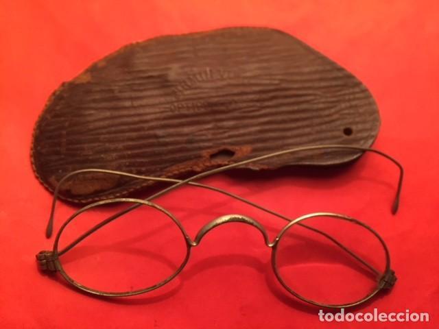 Antigüedades: GAFAS ANTEOJOS QUEVEDO SIGLO XIX, OPTICO FRANCES FIRMIN VIBO - Foto 2 - 125110323